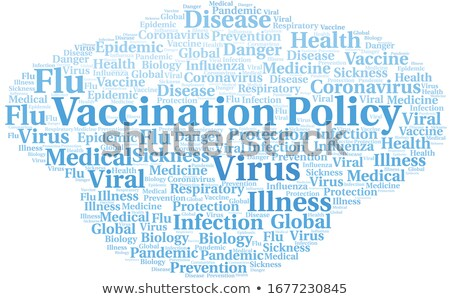 Vaccinazione medici parola rosso colore Foto d'archivio © tashatuvango