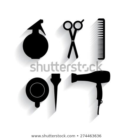 волос · щетка · белые · волосы · одевание · инструменты · пена - Сток-фото © marcogovel