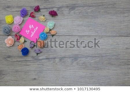 Rózsaszín rózsa lila nap illusztrált illustrator eps10 Stock fotó © Luppload
