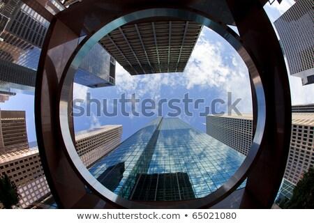 Centro de la ciudad Houston Texas espejo rascacielos paisaje urbano Foto stock © lunamarina