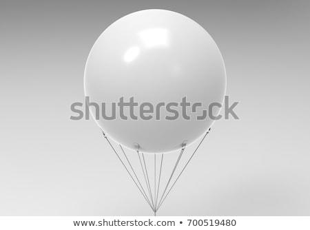 felfújható · léggömb · fotó · fehér · narancs · légy - stock fotó © Marfot