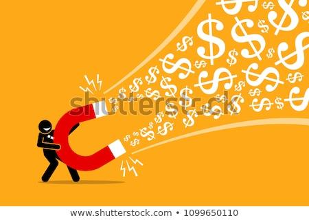 Grande financeiro córrego dólares escuro azul Foto stock © grechka333