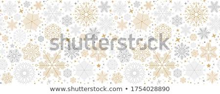 Vektor karácsonyi minta hópelyhek végtelenített karácsony tél Stock fotó © alexmakarova