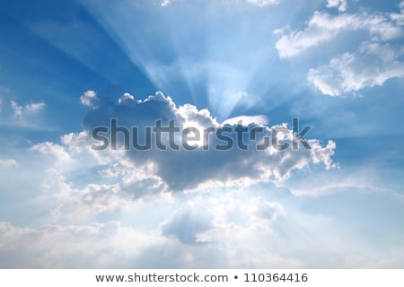 Dramatic cloud with sunbeams Stock photo © w20er