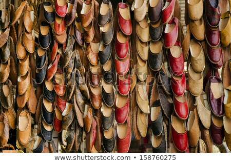 leather slippers in souk of cairo in egypt stock photo © travelphotography