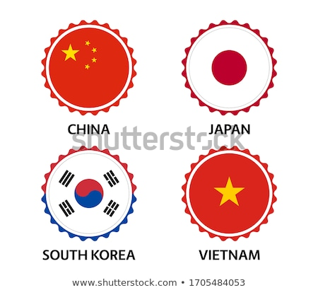 ayarlamak · düğmeler · Vietnam · parlak · renkli - stok fotoğraf © flogel