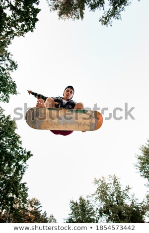Stock photo: Energetic jump