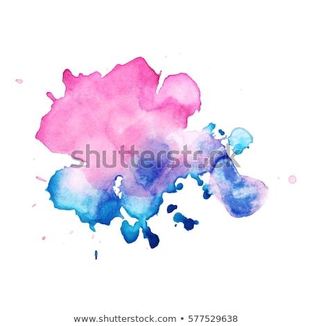 vector vintage watercolor splatter design stock photo © burakowski