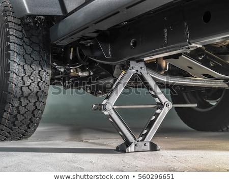 Hidraulikus autó háttér piros gép acél Stock fotó © FOKA