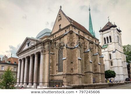 Catedrală Elvetia oraş noapte arhitectură Imagine de stoc © mariephoto