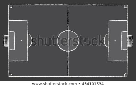Campo de futebol verde quadro-negro futebol campo de futebol Foto stock © stevanovicigor