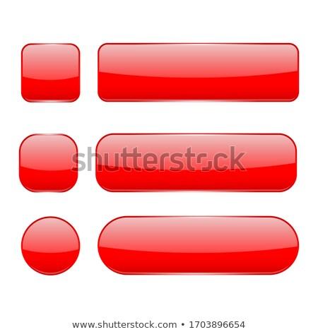 ストックフォト: 赤 · ガラス · ボタン · オフ · 実例