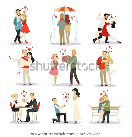 Tango amantes apaixonado jovem dançarinos isolado Foto stock © sahua
