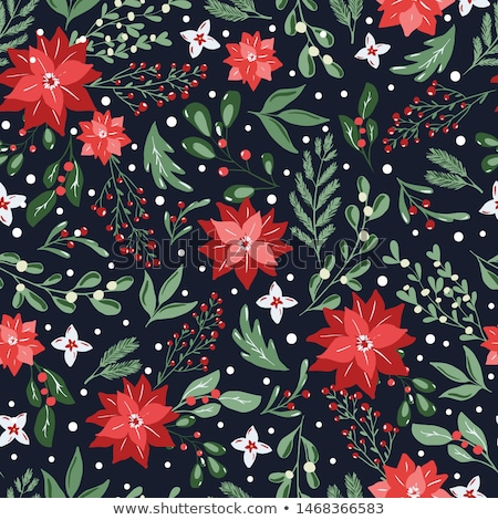vector bright seamless winter pattern stock photo © alexmakarova