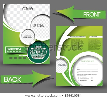 golf · flyer · modèle · fond · vert · balle - photo stock © rioillustrator