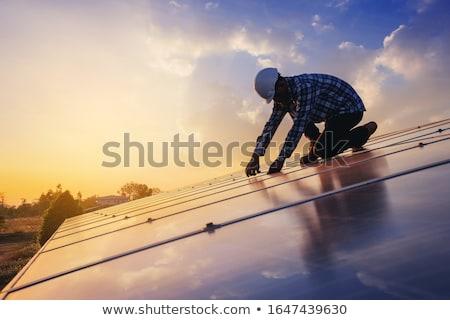 groene · energie · batterij · milieuvriendelijk · energie · macht · milieu - stockfoto © 5xinc