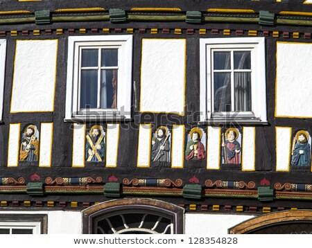 Fél ház tündérmese város piac házak Stock fotó © meinzahn