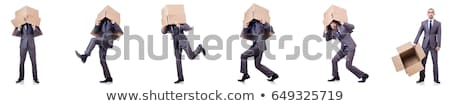 Empresário dinamite isolado branco negócio fundo Foto stock © Elnur