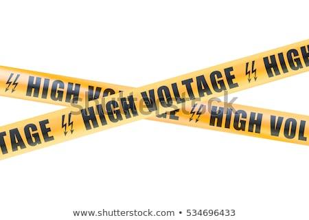 warning sign danger high voltage safety concept stock photo © frameangel