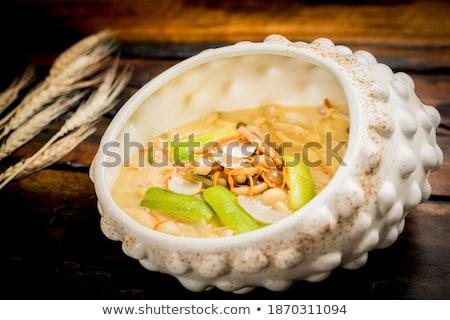 kínai · étel · gomba · tányér · szakács · sárgarépa · étel - stock fotó © bbbar