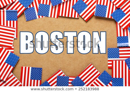 Miniatura bandeira Boston Massachusetts isolado Foto stock © bosphorus