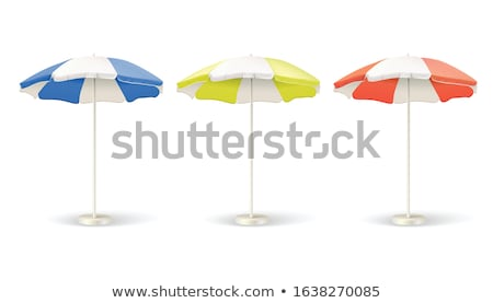 Illustration of red beach umbrella on white background  stock photo © gladiolus