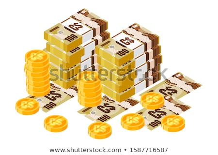 Stock fotó: Canadian Money And Coins