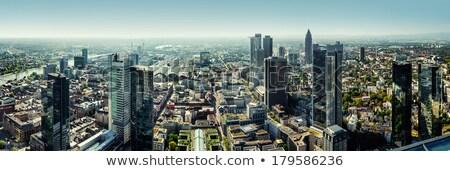 Panoramic view of Frankfurt am Main city, Germany Stock photo © amok