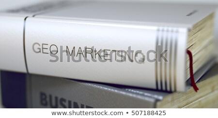 Local búsqueda comercialización título libro azul Foto stock © tashatuvango