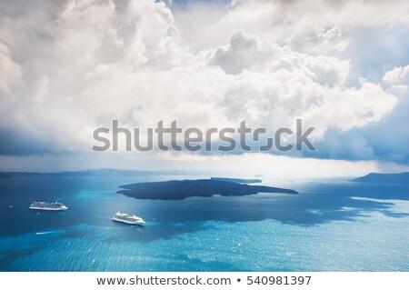 Yaz bulutlar deniz Yunanistan gökyüzü su Stok fotoğraf © haraldmuc