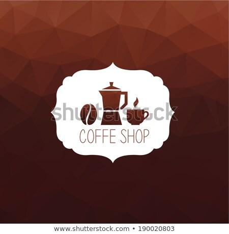 премия кофе Этикетки черный веб ретро Сток-фото © nokastudio