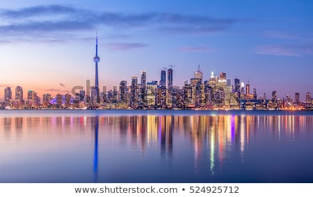 Торонто Skyline силуэта город Онтарио Канада Сток-фото © blamb