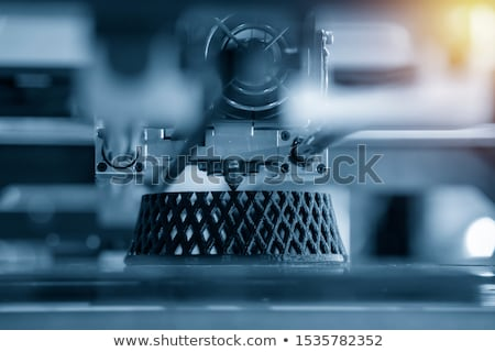3D yazıcı baskı pizza mavi makine Stok fotoğraf © georgejmclittle