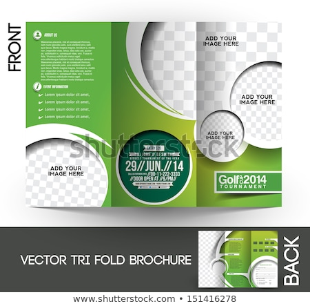 Golf brochure modèle fond vert balle Photo stock © rioillustrator
