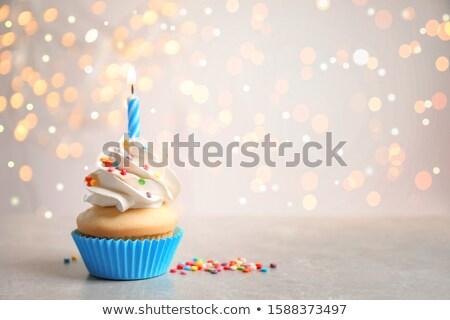 primo · compleanno · decorato · cioccolato · verde - foto d'archivio © meinzahn