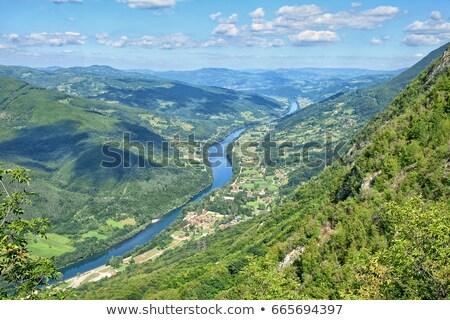 реке Сербия гор пейзаж небе дерево Сток-фото © alexandre17