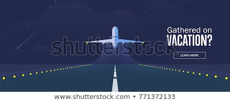 Foto stock: Pista · aviao · voar · aeroporto · sunset ·
