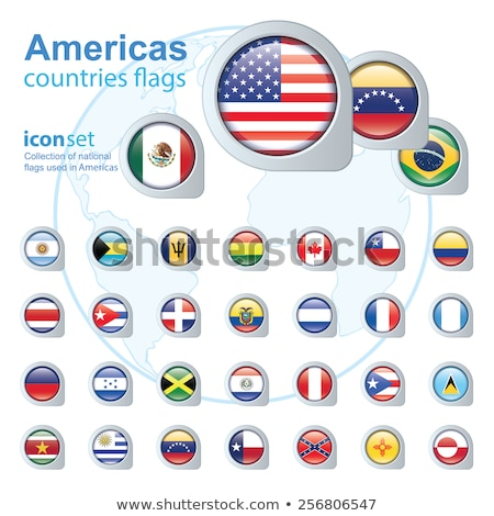 Térkép zászló gomb Barbados illusztráció művészet Stock fotó © Istanbul2009