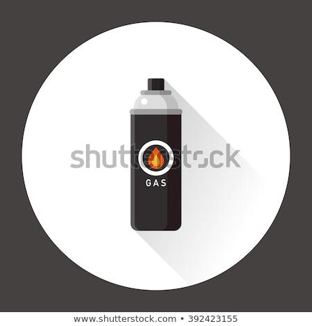 Bután benzin patron hordozható acél konténer Stock fotó © dezign56