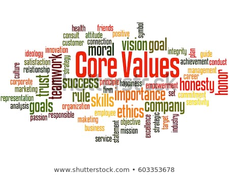 Stock photo: Company culture word cloud