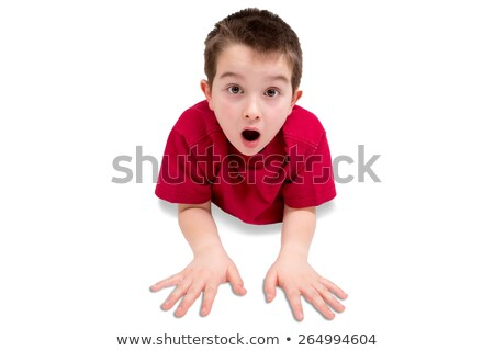 Astonished little boy gawping at the camera Stock photo © ozgur