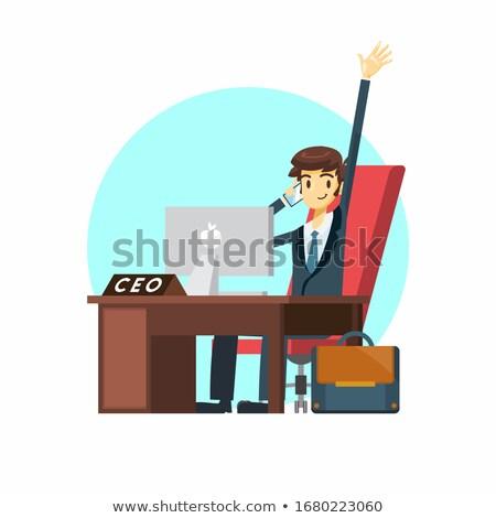 boss · seduta · desk · isolato · bianco · jpg - foto d'archivio © Voysla