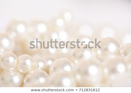 white pearl beads stock photo © caimacanul