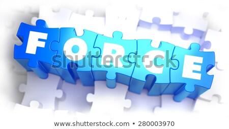Biały słowo niebieski 3d ilustracji energii kolor Zdjęcia stock © tashatuvango