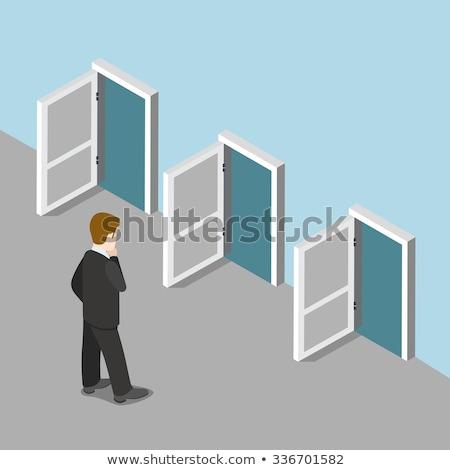 kariyer · kapı · kutu · merdiven · beyaz · oda - stok fotoğraf © lightsource