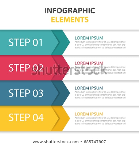 modern vector abstract step arrow lable infographic elements stock photo © jiunnn