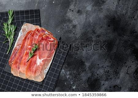 ветчиной · салями · растительное · подробность · ингредиент - Сток-фото © Tatik22