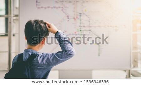 Teenager Standing in Front of Back To School Line Stock photo © stevanovicigor