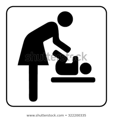 mãe · crianças · lavanderia · casa · cor · limpeza - foto stock © ustofre9