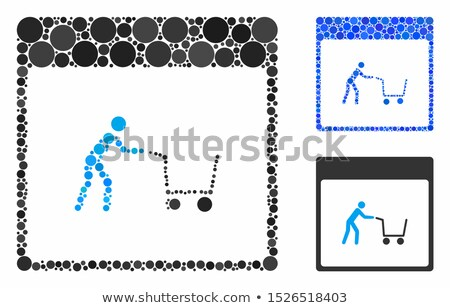 add to cart blue sticky notes vector icon design stock photo © rizwanali3d
